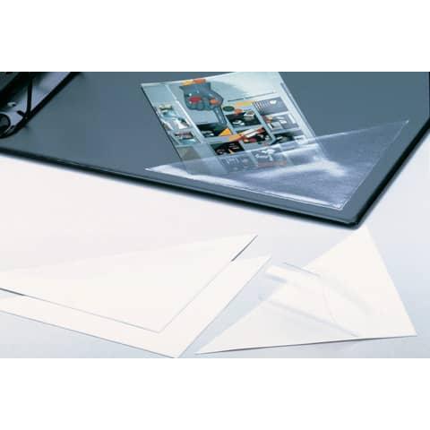Dreiecktasche 75mm selbstklebend klar DURABLE 8081 19, 8 Stück Produktbild Anwendungsdarstellung 2 XL