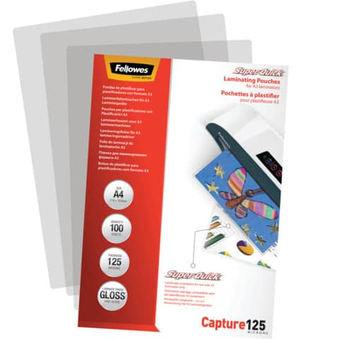 Laminierhülle 100ST A4 FELLOWES FW5440101 SQ Produktbild Einzelbild 2 XL