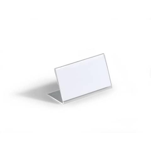 Tischschild 10ST transparent DURABLE 8055 19 54x100mm Produktbild Einzelbild 1 XL