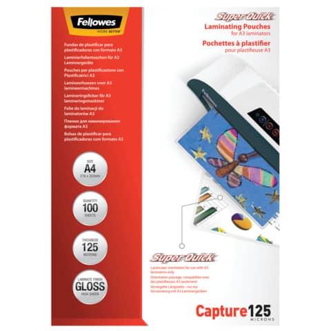 Laminierhülle 100ST A4 FELLOWES FW5440101 SQ Produktbild