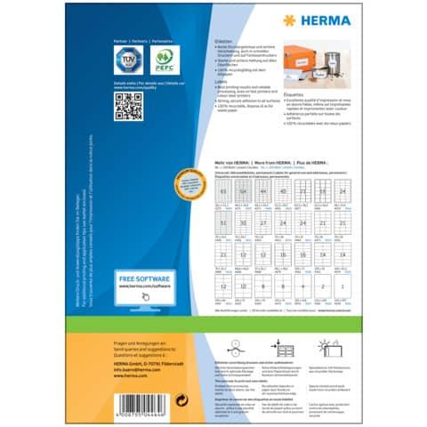 Universaletiketten 70x37mm weiß HERMA 4464 2400 Stück permanent haftend Produktbild Einzelbild 6 XL