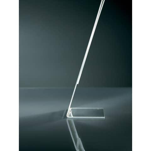 Tischaufsteller A5 hoch glasklar Acryl SIGEL TA212 schräg Produktbild Detaildarstellung 2 XL