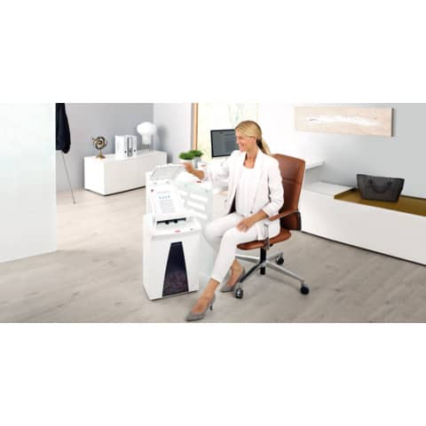 Aktenvernichter Securio AF300 weiß HSM 2092111 Partikel 1,9x15mm Produktbild Produktabbildung aufbereitet XL