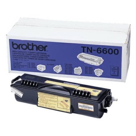 Lasertoner schwarz BROTHER TN6600 Produktbild