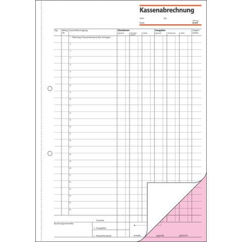 Kassenabrechnung A4 SIGEL KG425 2x50BL Produktbild Detaildarstellung 3 XL