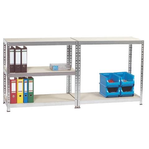 Regal 92x46x180cm 5 Böden ALCO 410 zum Stecken Stahlblech Produktbild Einzelbild 2 XL