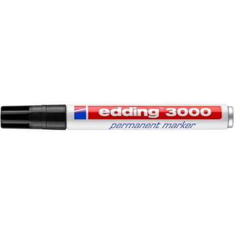 Permanentmarker 3000 1,5-3mm schwarz EDDING 3000-001 Rundspitze nachfüllbar Produktbild Einzelbild 1 XL