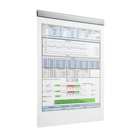 Magnetleiste DURAFIX RAIL 210mm silber DURABLE 4706 23 5ST Produktbild Produktabbildung aufbereitet XL