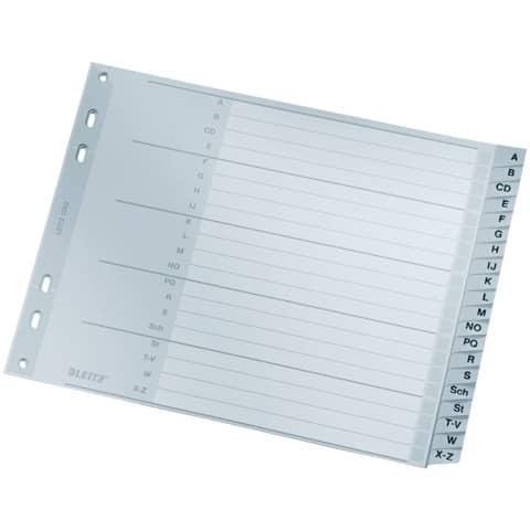 Register A4 A-Z grau 20tlg. LEITZ 12620000 Plastik überbr. Produktbild
