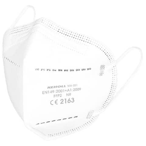 Atemschutzmaske FFP2 weiß KEHOLL 5002324 MA-001 CE2163 Produktbild