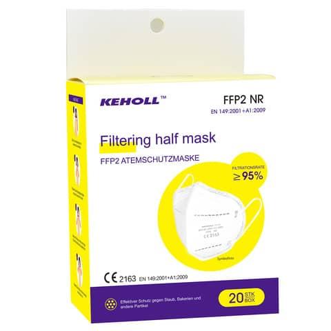 Atemschutzmaske FFP2 weiß KEHOLL 5002324 MA-001 CE2163 Produktbild Einzelbild 2 XL
