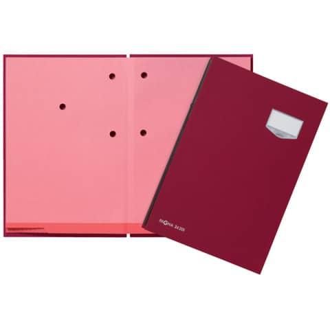Unterschriftsmappe 20 tlg, rot PAGNA 24201-01 Leinen kasch. Produktbild