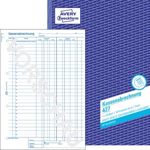 Kassenbuch A4 hoch, 2x50 Blatt ZWECKFORM 427 Produktbild Einzelbild 2 XL
