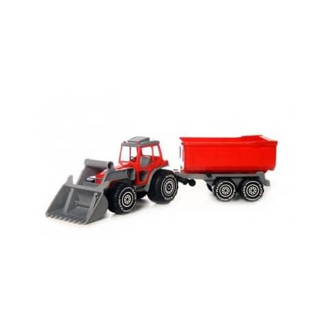 Plasto Traktor mit Frontlader & Trailer Produktbild