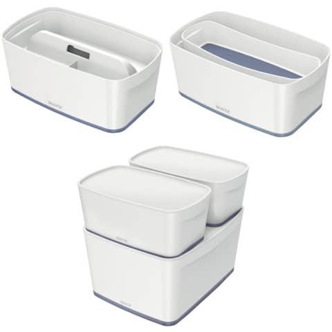 Ablagebox MyBox klein A5 weiß/grau LEITZ 5229-10-01 5 Liter Produktbild Stammartikelabbildung XL