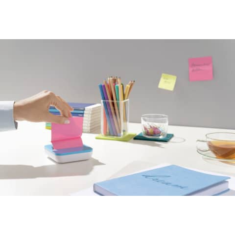 Haftnotizblock 76x76mm 8St sort. POST-IT VAL-8BP SupSticky+Spend Produktbild Produktabbildung aufbereitet XL