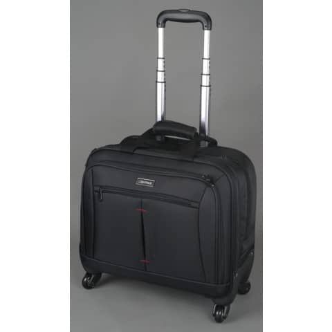 Business Trolley Nylon schwarz LIGHTPAK 46116 45x43x22cm Produktbild