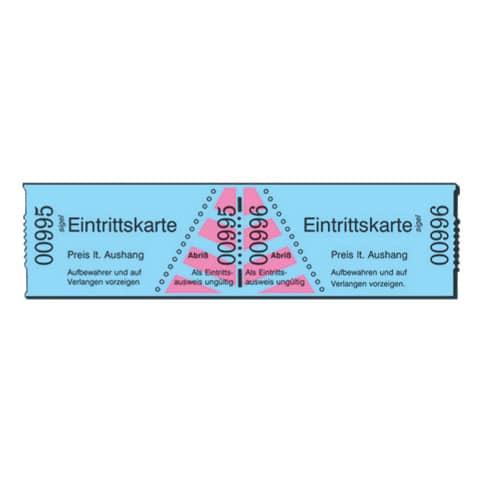 weitere Farben 1000 Abrisse SIGEL ER815 Rollen-Eintrittskarten blau