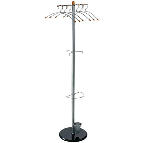 Garderobenständer 185cm silber ALCO 2805 Produktbild