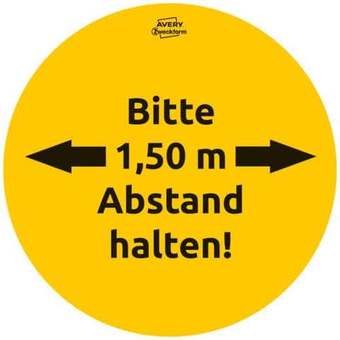 Hinweisetiketten Corona Schilderset gelb AVERY ZWECKFORM 49401 Gastro 12ST Produktbild Einzelbild 2 XL