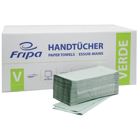 Falthandtuch 1-l.5000ST grün FRIPA 4021101 Verde Produktbild