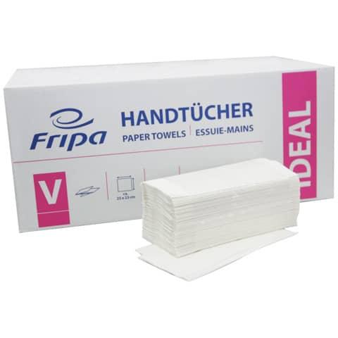 Falthandtuch 1-l.5000ST weiß FRIPA 4031101 Ideal Produktbild