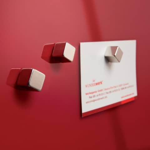 Magnettafel Glas rot SIGEL GL114 480x480x15mm Produktbild Anwendungsdarstellung 2 XL