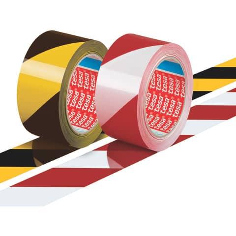 Markierungsband rot/weiß TESA 58134-00000-00 50mm 66m Produktbild Stammartikelabbildung 2 XL