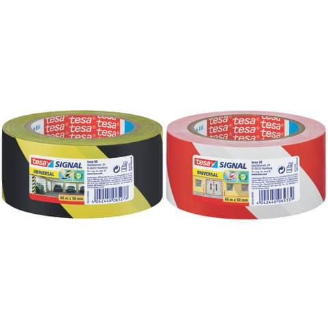 Markierungsband rot/weiß TESA 58134-00000-00 50mm 66m Produktbild Stammartikelabbildung XL