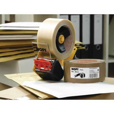Packband 50mm 66m braun NOPI 57215-00000-01 PVC Produktbild Anwendungsdarstellung XL