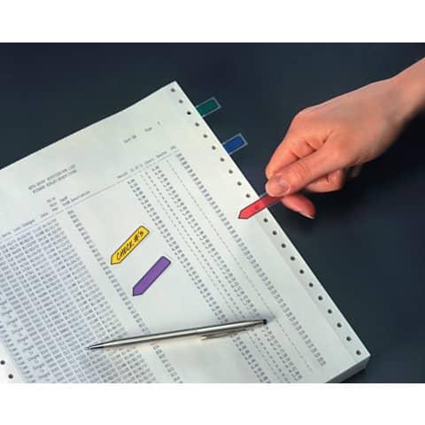 Index Pfeil 12x43 farbig sortiert POST IT 684 ARR1 5x20 Stück Produktbild Produktabbildung aufbereitet 2 XL