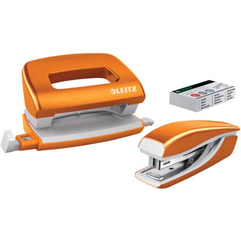 Locher + Hefter WOW metallic orange LEITZ 5561-20-44 Produktbild