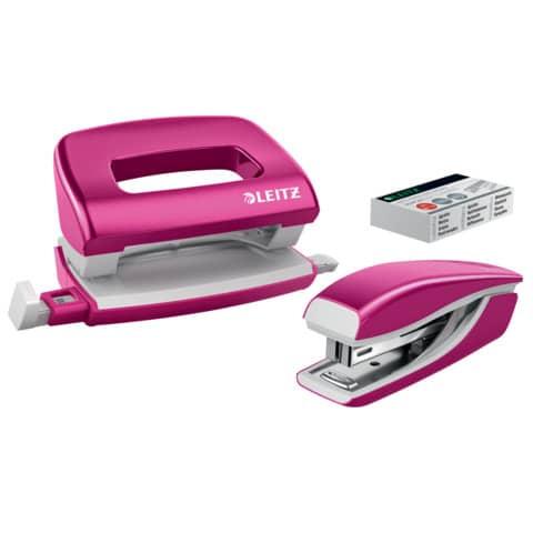 Locher + Hefter WOW metallic pink LEITZ 5561-20-23 Produktbild
