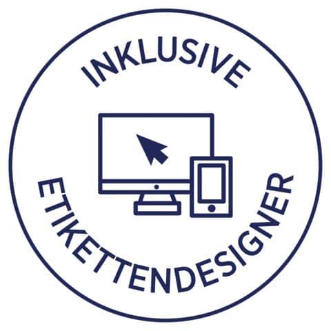 Ordneretikett 61x192mm weiß ZWECKFORM L4761-25 100ST Produktbild Detaildarstellung XL