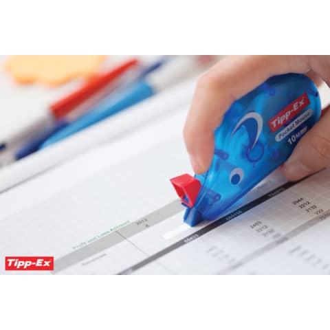 Korrekturroller Maus Pocket 4,2mm 10m TIPP EX 8221362/8221361 eingeschweißt Produktbild Anwendungsdarstellung XL