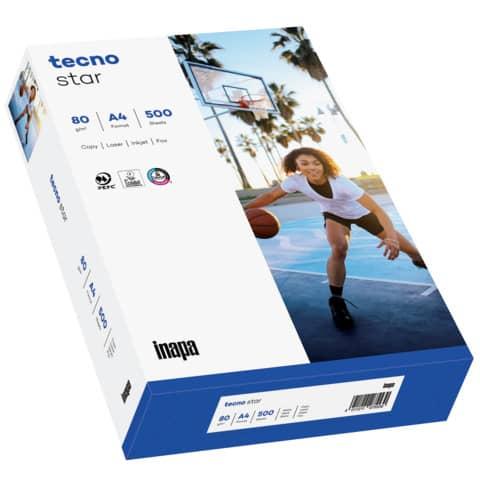 Kopierpapier Star 80g A4 500BL weiß TECNO 2100011527 150 CIE-Weiße Produktbild Einzelbild 2 XL