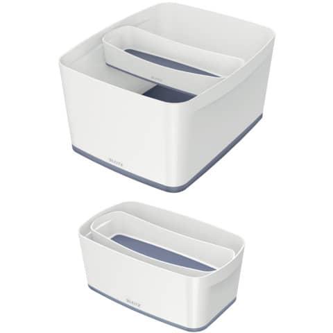 Ablageschale MyBox lang weiß/grau LEITZ 5258-10-01 Produktbild Stammartikelabbildung XL