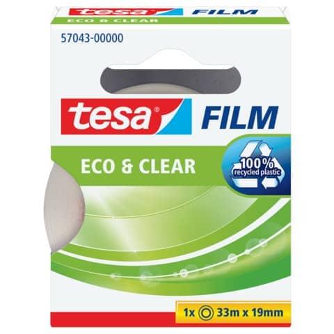 Klebefilm 19mm 33m transparent TESA 57043-00000-01 Eco & Clear Produktbild Einzelbild 2 XL