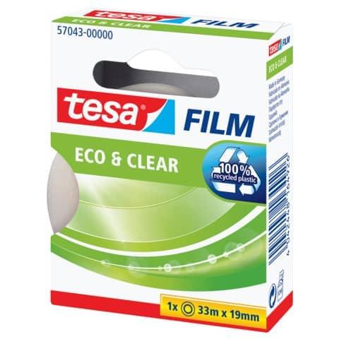 Klebefilm 19mm 33m transparent TESA 57043-00000-01 Eco & Clear Produktbild Einzelbild 6 XL