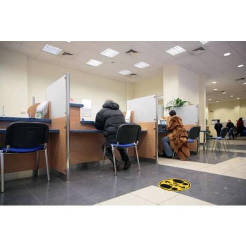 Bodenaufkleber DM 35cm gelb-schwarz 2,0m 2 St. für glatte Böden TARIFOLD T197857 Produktbild Anwendungsdarstellung 2 XL