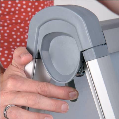 Kundenstopper Design Außenbereich A1 FRANKEN BS1309 591x836mm silber Produktbild Detaildarstellung 3 XL