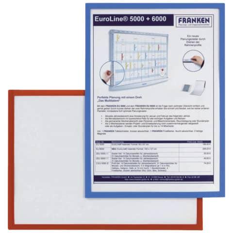 Prospekttasche A4 5ST rot FRANKEN ITSA4M/501 magnetisch Produktbild Stammartikelabbildung XL