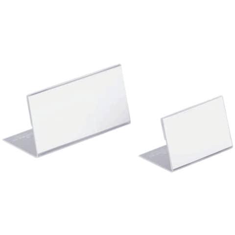 Tischschild 10ST transparent DURABLE 8055 19 54x100mm Produktbild Stammartikelabbildung XL