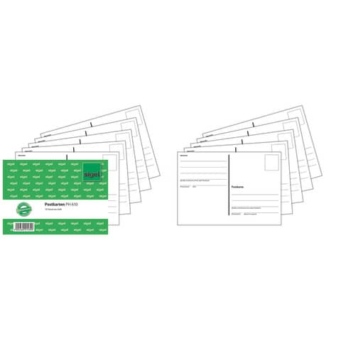 Postkarten Heft A6 10Bl SIGEL PH610 Produktbild Stammartikelabbildung 1 XL