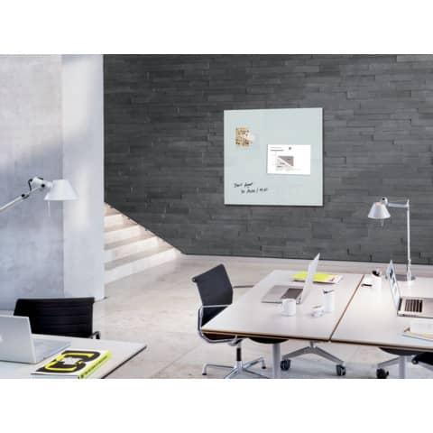 Magnettafel 100x100cm weiß SIGEL GL201 artverumXL Produktbild Produktabbildung aufbereitet XL