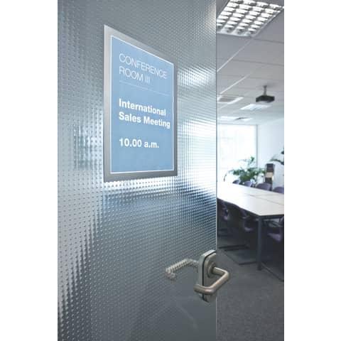 Magnetschilderrahmen A4 silber DURABLE 4872 23 Duraframe 2 Stück Produktbild Anwendungsdarstellung 1 XL