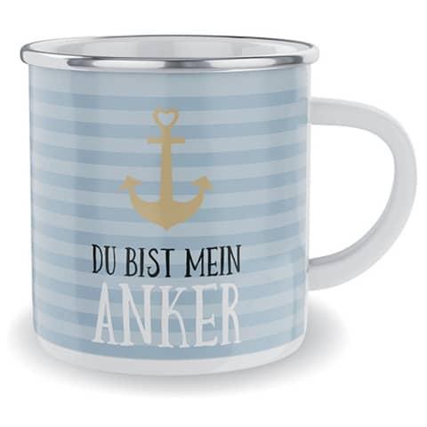 Kaffeebecher Du bist mein Anker FÜR DICH 917811 Emaille Produktbild