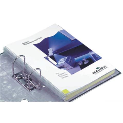 Abheftstreifen SK 10 Stück transparent DURABLE 8061 19 297x25mm Produktbild Anwendungsdarstellung XL