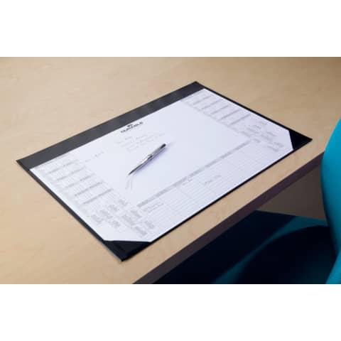 Schreibunterlage mit Block schwarz DURABLE 7291 01   59x42 cm Produktbild Anwendungsdarstellung XL