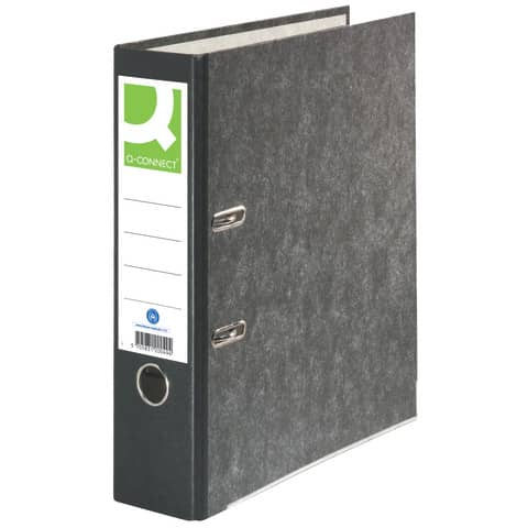 Ordner Pappe A4 80mm schwarz Q-CONNECT KF20049/11411642 Produktbild